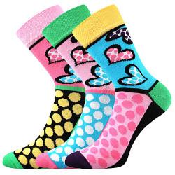 3PACK ponožky BOMA vícebarevné (Ivana 55)