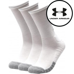 3PACK ponožky Under Armour bílé (1346751 100)