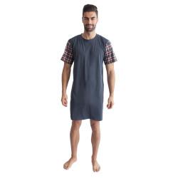 Pánská noční košile Gino šedá (79088)