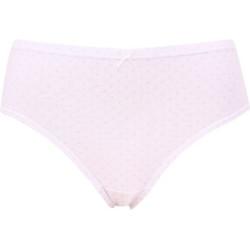 Dámské kalhotky Andrie bílé s růžový vzorem (PS 2796 A)