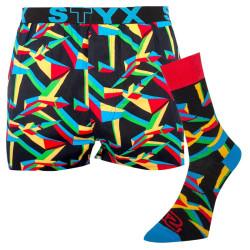 Pánské trenky art sportovní guma a ponožky Styx triangular (BH957)