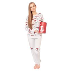 Dámské pyžamo Gisela šedé v dárkovém balení (2/1746)