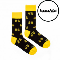 Veselé ponožky Fusakle na zdraví černé (--0507)