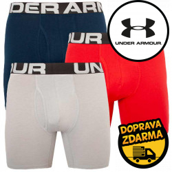 3PACK pánské boxerky Under Armour nadrozměr vícebarevné (1363617 600)