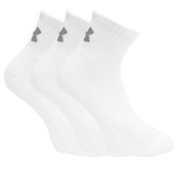 3PACK ponožky Under Armour bílé (1346770 100)
