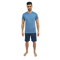 Pánské pyžamo Jockey modré nadrozměr (500001 454)