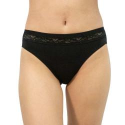 Dámské kalhotky Gina černé s krajkou (10142)